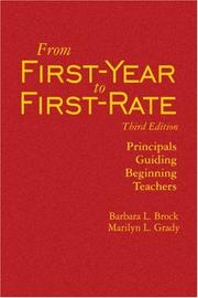 Cover of: From First-Year to First-Rate