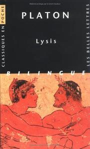 Cover of: Lysis: Symposium; Gorgias.  With an English translation by W.R.M. Lamb.