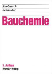 Cover of: Bauchemie.