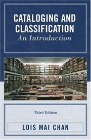 Cover of: Cataloging and Classification