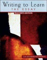 Cover of: Teacher's Edition, Writing to Learn