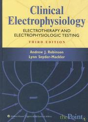 Cover of: Clinical Electrophysiology