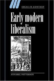 Cover of: Early modern liberalism
