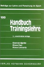 Cover of: Handbuch Trainingslehre.