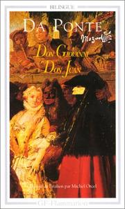 Cover of: Don Giovanni - Don Juan