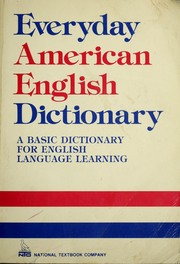 Cover of: Everyday American English Dictionary