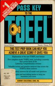 Cover of: Pass key to the TOEFL