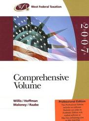 Cover of: West Federal Taxation 2007
