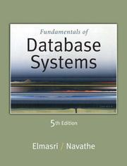 Cover of: Fundamentals of Database Systems (5th Edition)