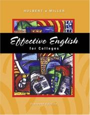 Cover of: Effective English for Colleges (with CD-ROM and InfoTrac )