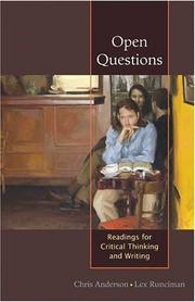 Cover of: Open Questions