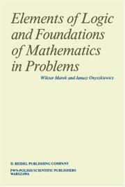 Cover of: Elements of Logic and Foundations of Mathematics in Problems