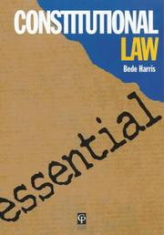 Cover of: Essential Australian Constitutional Law