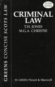 Cover of: Criminal Law (Greens Concise Scots Law)