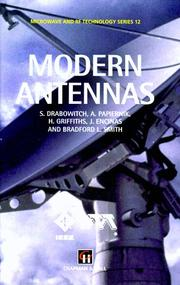 Cover of: Modern Antennas (Microwave and RF Techniques and Applications)