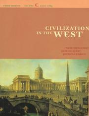 Cover of: Civilization in the West
