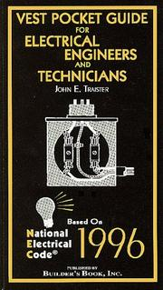Cover of: Vest Pocket Guide for Electrical Engineers and Technicians