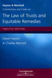 Cover of: Hayton and Marshall