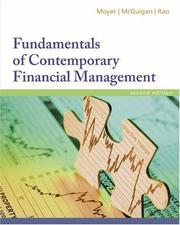 Cover of: Fundamentals of Contemporary Financial Management (with Thomson ONE, Business School Edition)