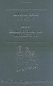 Cover of: Ritual, text, and law