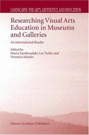 Cover of: Researching visual arts education in museums and galleries