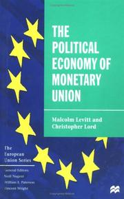 Cover of: The Political Economy of Monetary Union (European Union)