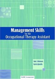 Cover of: Management Skills for the Occupational Therapy Assistant