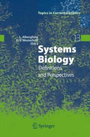 Cover of: Systems biology