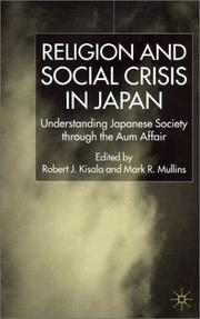 Cover of: Religion and social crisis in Japan
