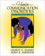 Cover of: Human Communication Disorders