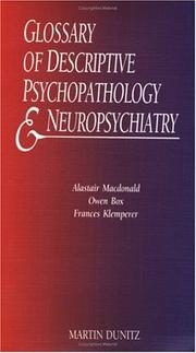 Cover of: Glossary of Descriptive Neuropsychopharmacology and Neuropsychiatry (Medical Pocketbook)