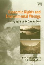 Cover of: Economic Rights and Environmental Wrongs