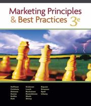 Cover of: Marketing Principles and Best Practices (with Access Certificate, Xtra!, and InfoTrac)