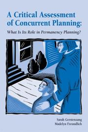 Cover of: A Critical Assessment of Concurrent Planning