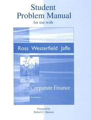Cover of: Student Problem Manual to accompany Corporate Finance