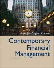 Cover of: Contemporary Financial Management (with Thomson ONE - Business School Edition and InfoTrac ) (Contemporary Financial Management)