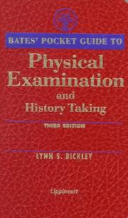 Cover of: Bates' Pocket Guide to Physical Examination and History Taking (Bates' Pocket Guide to Physical Examination and History Taki)