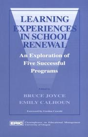 Cover of: Learning experiences in school renewal