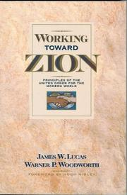 Cover of: Working Toward Zion