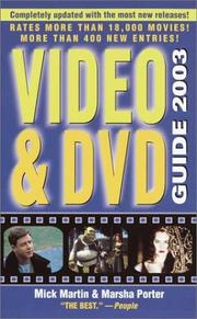 Cover of: Video & DVD Guide 2003 (Video and DVD Guide, 2003)