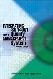 Cover of: Integrating ISO 14001 into a Quality Management System (Second Edition)