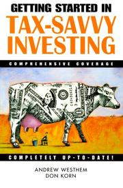 Cover of: Getting Started in Tax Savvy Investing (A Marketplace Book)