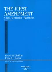 Cover of: First Amendment