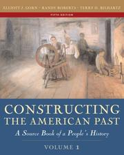 Cover of: Constructing the American Past, Volume I (5th Edition)