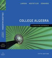 Cover of: College Algebra A Graphing Approach