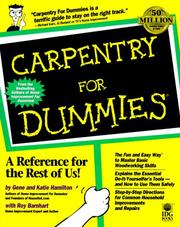 Cover of: Carpentry for Dummies