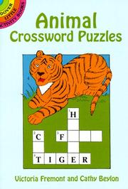Cover of: Animal Crossword Puzzles (Dover Little Activity Books)