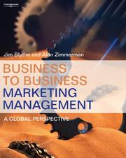 Cover of: Business to Business Marketing