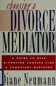 Cover of: Choosing a Divorce Mediator