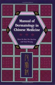 Cover of: Manual of Dermatology in Chinese Medicine